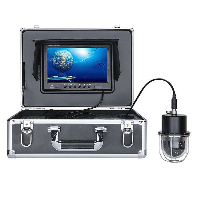 9 Inch DVR Recorder 50M Underwater Fishing Video Camera Fish Finder IP68 Waterproof 20 LEDs 360 Degree Rotating Dome  Rotating Panoramic viewing Camera