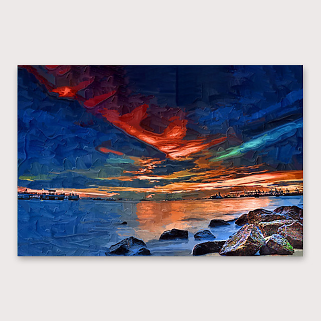 IARTS Hand Painted curtain of night Oil Painting with Stretched Frame For Home Decoration With Stretched Frame