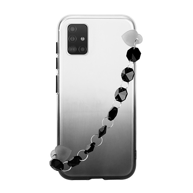 Case For Samsung Galaxy S20 Ultra Note 10 Plus A20 A30 A50 A70 A21S J6 Plus  J4 Plus Galaxy A10(2019) Ultra-thin Transparent Back Cover Color Gradient TPU with Crystal Bracelet