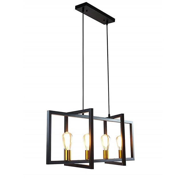 4-Light 90 cm Island Design Pendant Light Metal Vintage 110-120V 220-240V