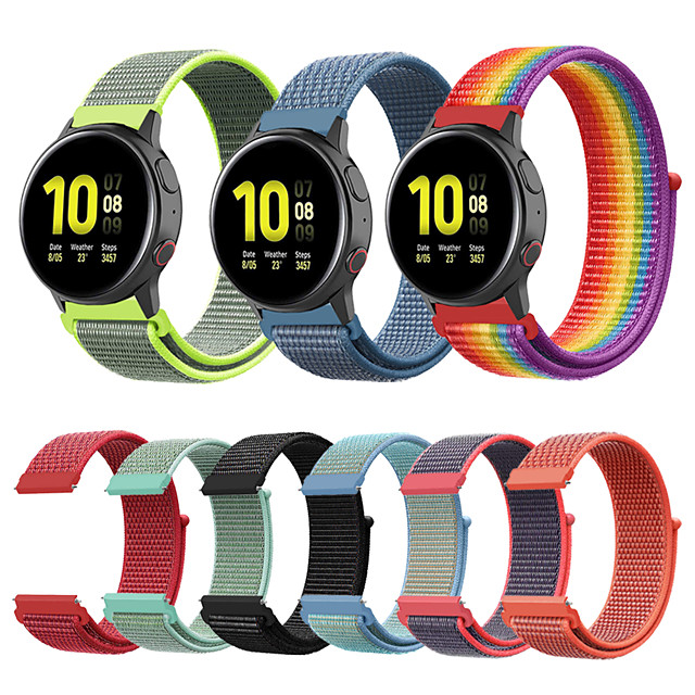 20mm/22mm Watch Band for Gear S3 Frontier/Gear S3 Classic /galaxy watch 42mm/46mm /Galaxy watch active/active2 Samsung Galaxy Sport Band/Classic Buckle Nylon Wrist Strap