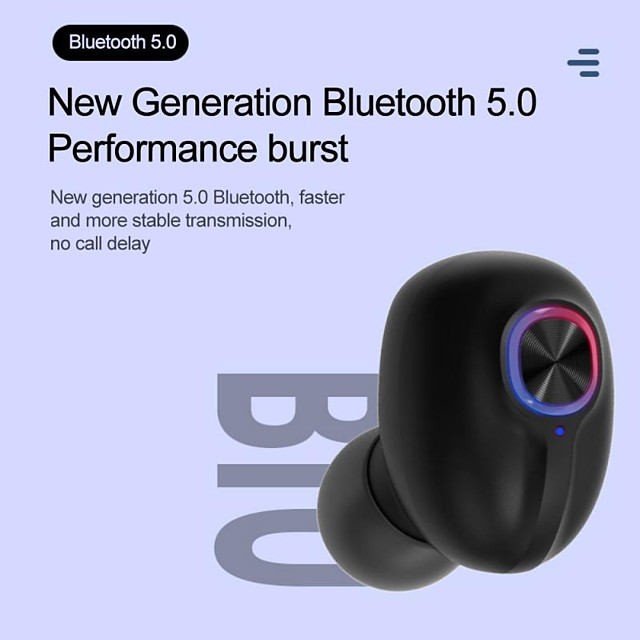 LITBest T12 TWS True Wireless Earbuds Stereo Dual Drivers with Microphone HIFI Wireless Bluetooth 5.0 with Charging Box for Mobile Phone