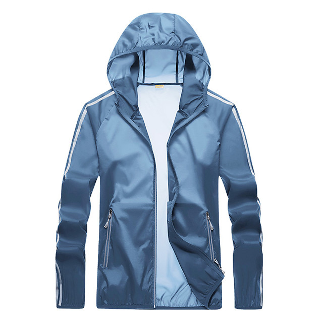 Men's Hiking Jacket Hiking Windbreaker Summer Outdoor Windproof Sunscreen Breathable Quick Dry Jacket Top Camping / Hiking Fishing Climbing Dark Grey / White / Blue / Light Grey