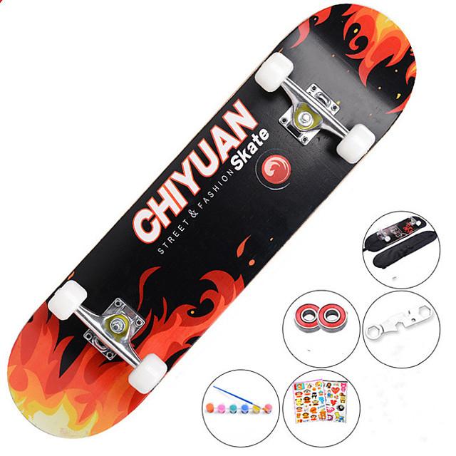 31 inčni Standardni Skateboards Javor Grad Anti-Slip Crvena