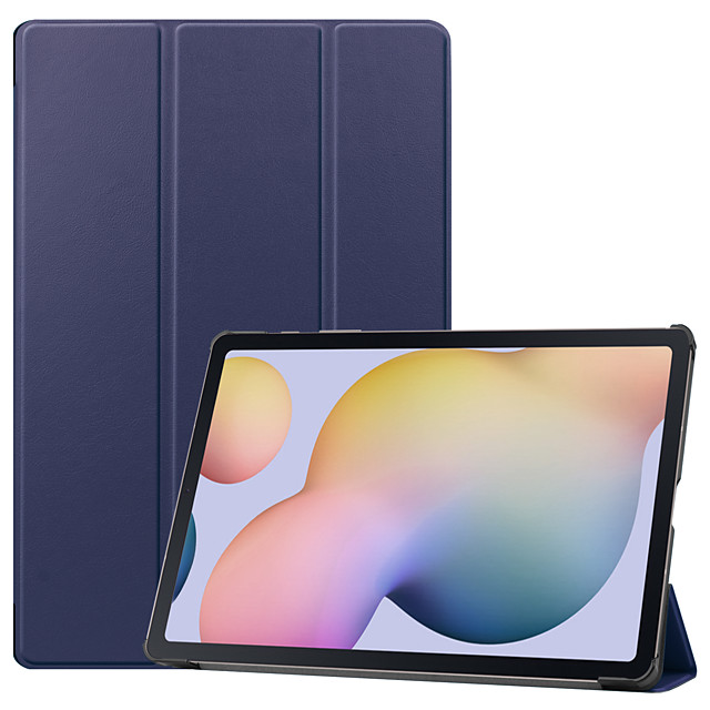 Case For Samsung Galaxy Samsung TAB A 10.1 P580N P585N Samsung TAB S3 9.7 T820 T825 Samsung TAB A 10.1 T580N T585C Flip Full Body Cases Solid Colored TPU PC