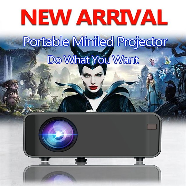 Led Projector 4200 Lux With 50000 Hrs Long Life Led Portable Home Theater Projector