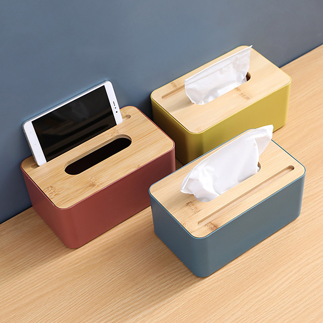 Tissue Box Wooden Cover Paper Toilet  Box Tissue Multifunction  Wooden Tissue Box Home Bathroom Car Organizer Decoration Tools