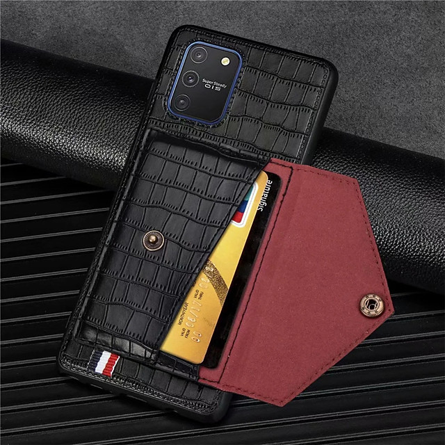 Crocodile Pattern Phone Case For Samsung Galaxy Galaxy A91 M80S  A81 M60S A71 A51 A41 A21 A11 A01 A70 A50 A30 A20 A10 PU Leather Card Slots Wallet for Galaxy S20 S20Plus S20Ultra S10 S10Lite Case