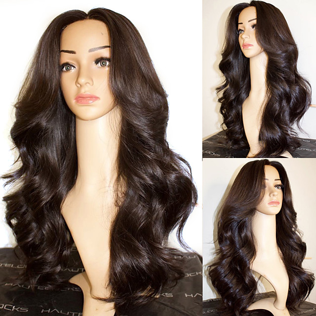 Synthetic Wig Body Wave with Baby Hair Wig Very Long Natural Black Synthetic Hair 68~72 inch Women's New Arrival Black