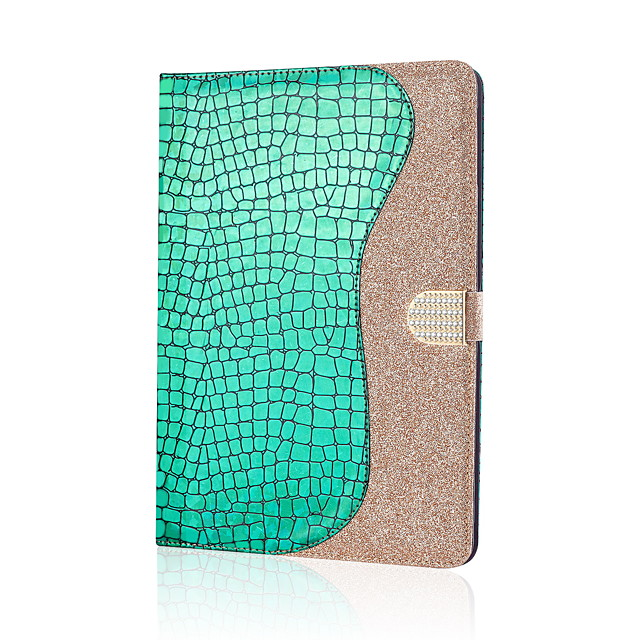 Case For Samsung Galaxy TAB A 10.1 T580N T585C Card Holder Magnetic Glitter Shine Full Body Cases Solid Colored Glitter Shine PU Leather
