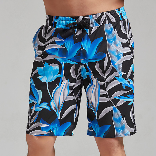 Men's Swim Trunks Elastane Bottoms Breathable Quick Dry Swimming Surfing Water Sports 3D Print Summer / Stretchy