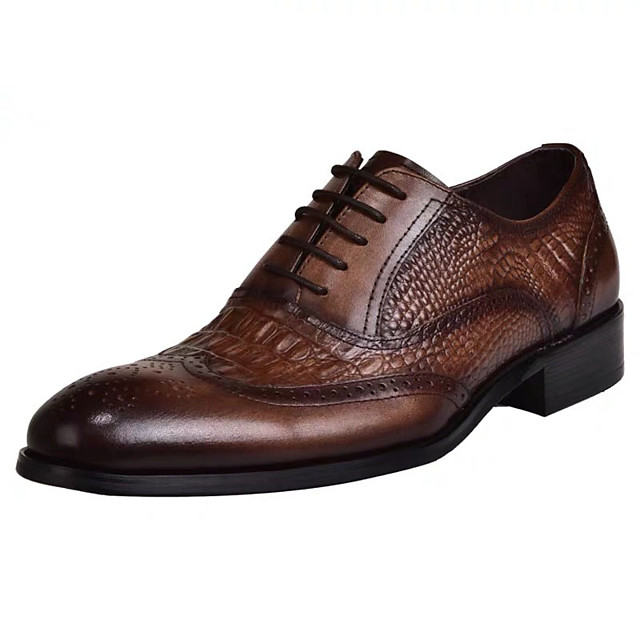 Men's Summer / Fall Daily Oxfords PU Black / Brown