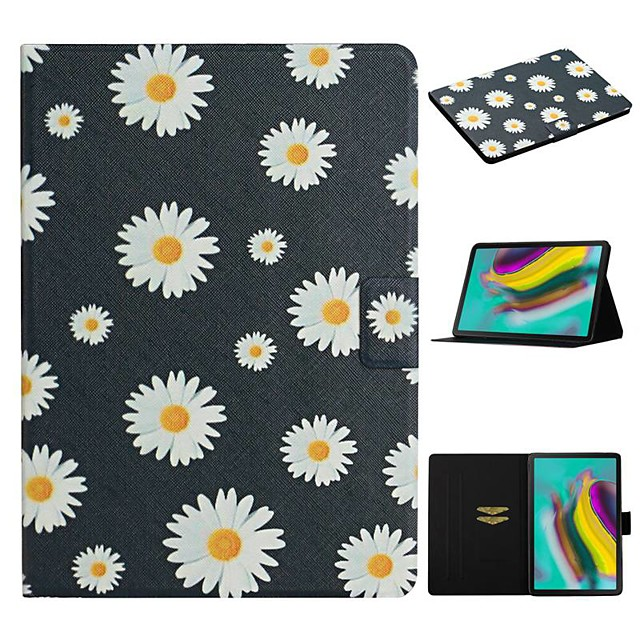 Case For Samsung Galaxy Tab A 10.1(2019)T510 Tab A 8.0(2019)T290 295 Tab S6 T860/865 Card Holder with Stand Flip Full Body Cases Flower PU Leather Tab S6 lite P610 P615 T580 T585 Tab S5E T720 T725