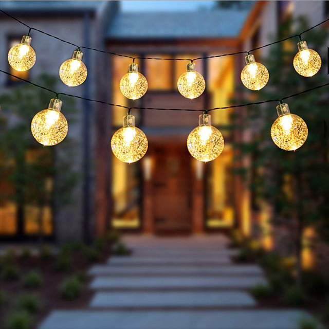 1.5m 2m 3m 4m 5m 10m 20m String Lights  High Power LED  Warm White White Blue Christmas New Year's Creative Party Decorative Garden Yard Decoration Lamp  AA Batteries Powered 1 set