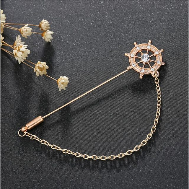 Alloy Brooches & Pins with Chain / Crystals / Rhinestones 1 Piece Wedding / Daily Wear Headpiece