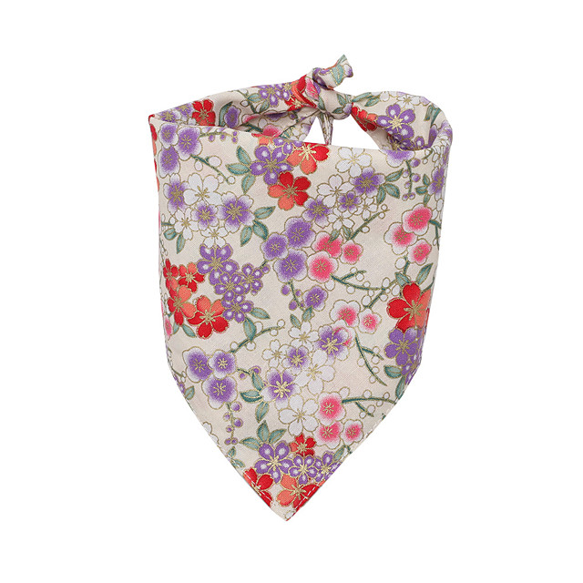 Dog Cat Bandanas & Hats Dog Bandana Dog Bibs Scarf Flower Casual / Sporty Cute Birthday Sports Dog Clothes Breathable White Black Red Costume Cotton S L