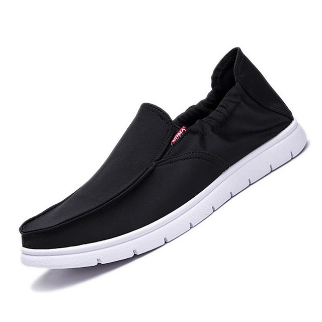 Men's Summer Daily Sneakers Canvas Black / Khaki / Gray