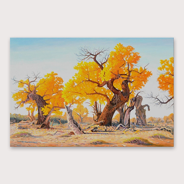 IARTS Hand Painted Art tree Oil Painting with Stretched Frame For Home Decoration With Stretched Frame