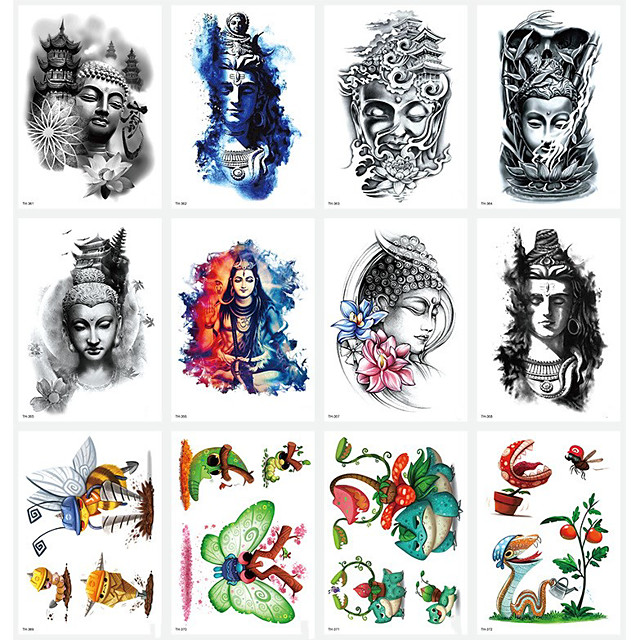 LITBest 6 Sheets Randomly Temporary Tattoos Tattoo Designs Half Arm Tattoo Sleeves for Men WomenWaterproof Tattoo Stickers TH361-TH369