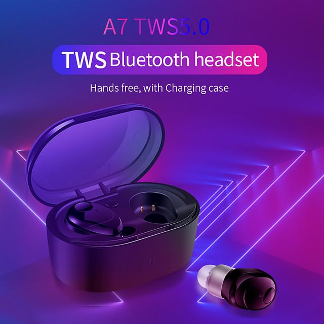 A7 TWS Earbuds Bluetooth 5.0 Wireless  Waterproof  Stereo Hifi Earphones Sport  Headset with Charging Box