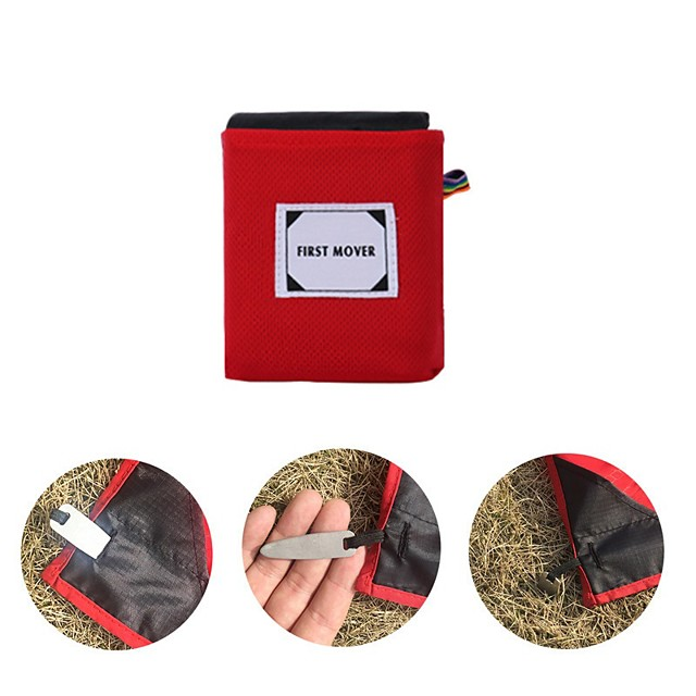 Picnic Blanket Outdoor Camping Lightweight Anti-Slip Wearable Nylon 110*150 cm for 4 person Camping / Hiking / Caving Picnic Spring Summer Black Red Blue