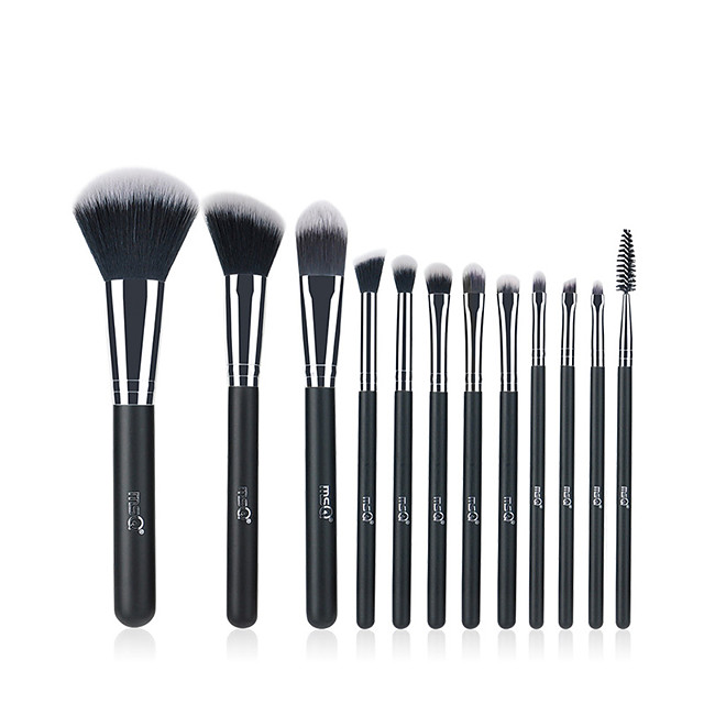 Professional Makeup Brushes 12pcs Professional Soft Full Coverage Artificial Fibre Brush Wooden / Bamboo for Blush Brush Foundation Brush Makeup Brush Lip Brush Lash Brush Eyebrow Brush Eyeshadow
