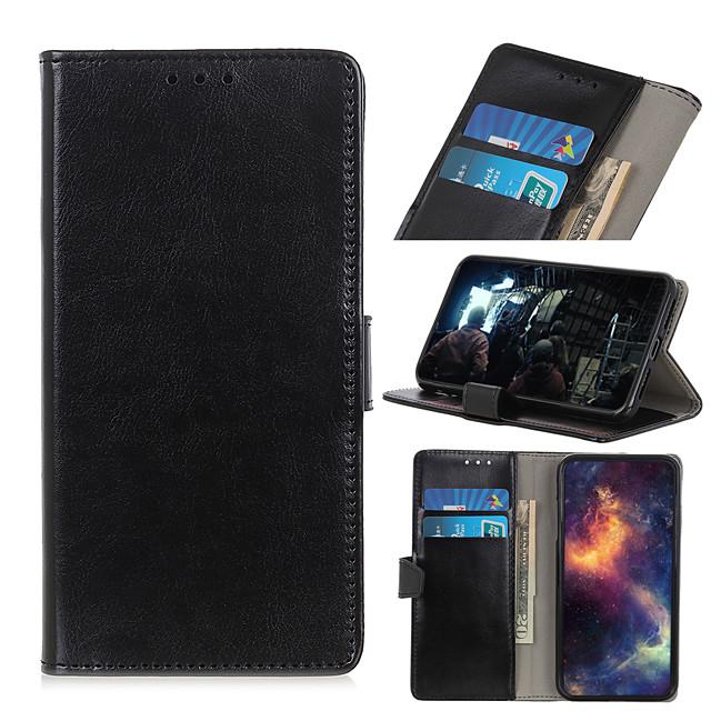 Case For LG LG K30 / LG K40 / LG K10 2018 Card Holder / Flip / Magnetic Full Body Cases Solid Colored PU Leather / TPU