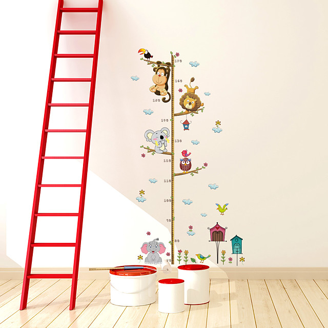 Kid's Height Measuring Ruler Wall Stickers Decorative Wall Stickers, PVC Home Decoration Wall Decal Wall Decoration / Removable