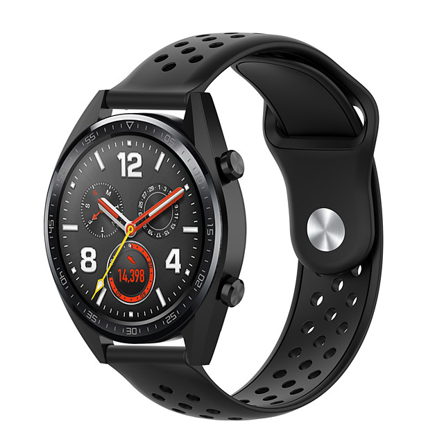 22mm Replacement Wrist Strap Silicone Soft Breathable for Huawei Watch GT Watchband