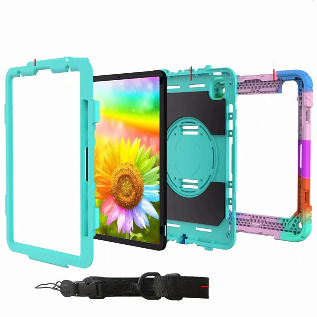 Case For Apple iPad Air iPad 4 3 2 iPad Mini 3 2 1 Shockproof Back Cover Solid Colored Plastic Silica Gel for iPad 10.2 iPad Mini 456  iPad 2017  2018
