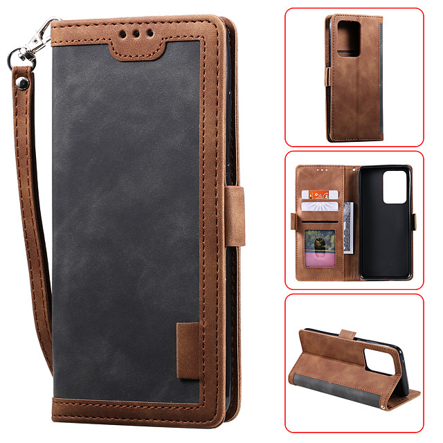 Case For Samsung Galaxy S9 S9PLUS S10 S10E S10PLUS S20 S20plus S20ultra NOTE10 NOTE10 PRO A10 A10S A20 a30 A20S A20E Card Holder Flip Magnetic Full Body Cases Solid Colored PU Leather TPU Shockproof