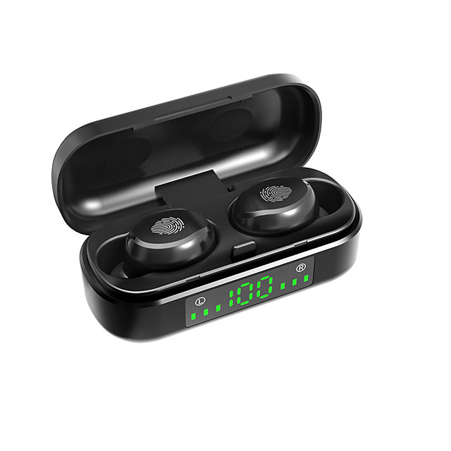 LITBest V8 TWS True Wireless Earbuds Bluetooth5.0 Stereo HIFI with Charging Box Waterproof IPX7 Mobile Power for Smartphones for Travel Entertainment
