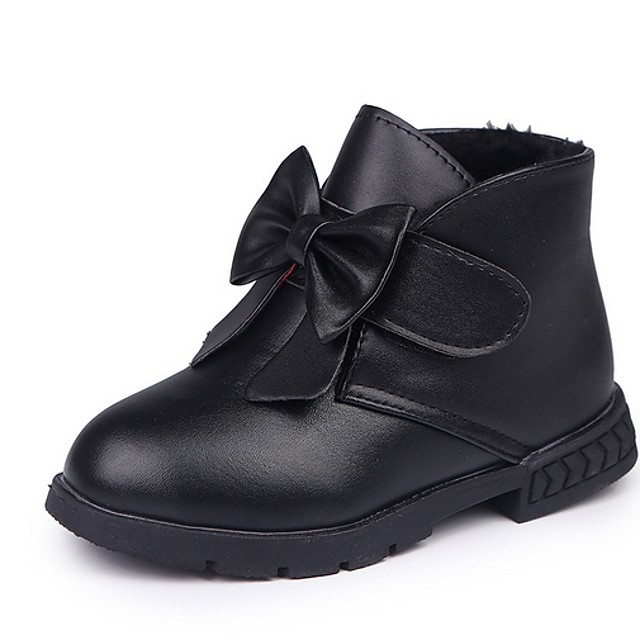 Boys' Comfort PU Boots Little Kids(4-7ys) Black / Red Summer / Booties / Ankle Boots