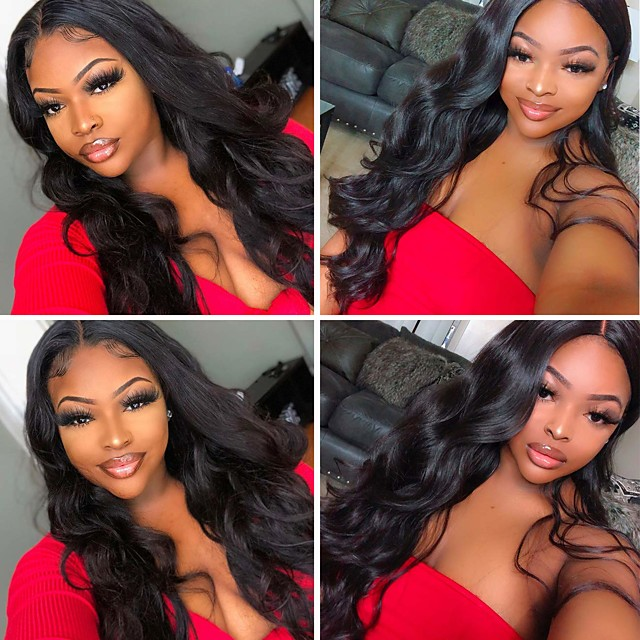 Synthetic Wig Curly Weave Side Part Wig Long Black Synthetic Hair 24 inch Women's Party New Arrival Fashion Black