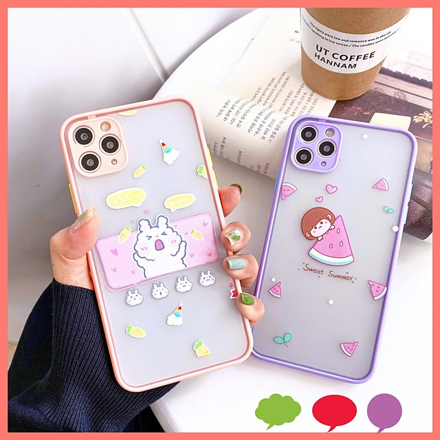 Case For APPLE  iPhone7 8 7plus 8plus  XR XS XSMAX  X SE  11  11Pro   11ProMax  Pattern Back Cover  TPU PC cute girl rabbit fruit
