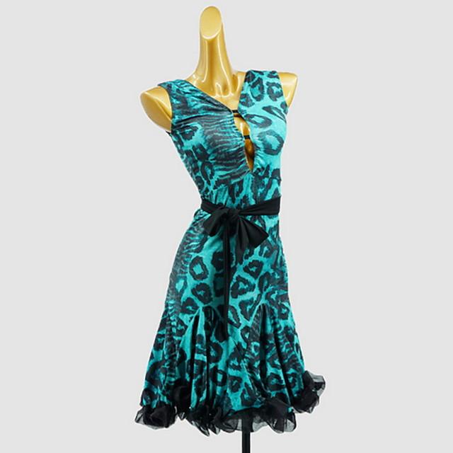 Latin Dance Dress Sash / Ribbon Bow(s) Girls' Training Daily Wear Sleeveless Cotton