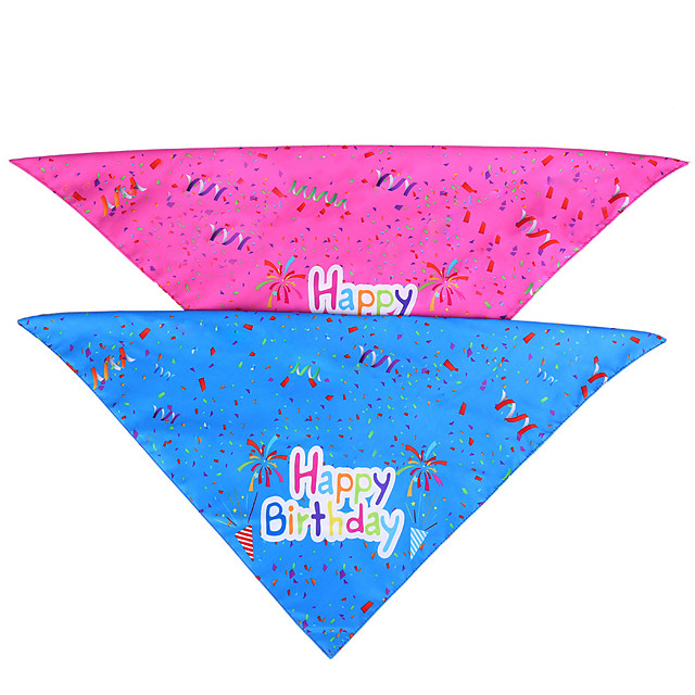 Dog Cat Bandanas & Hats Dog Bandana Dog Bibs Scarf Letter & Number Casual / Sporty Cute Christmas Birthday Dog Clothes Adjustable Costume Fabric M