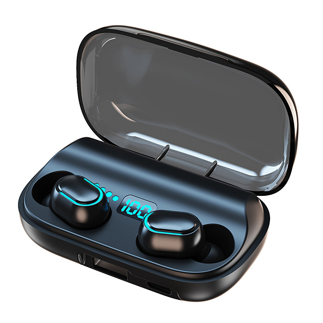 T11 TWS HIFI Stereo Earbuds LED Display Waterproof IPX7 Bluetooth Headsets With 1800mAh Power Bank Wireless Earphones for All Phone