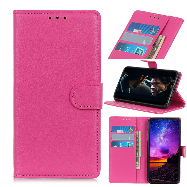 Case For  LG LG K10 2018 K30 K8 2018 K9 K40 K50 K30 2019 K40S K50S K20 2019 K41S K51S K61 K51 Card Holder Flip Magnetic Full Body Cases Solid Colored PU Leather TPU Vintage Litchi Grain