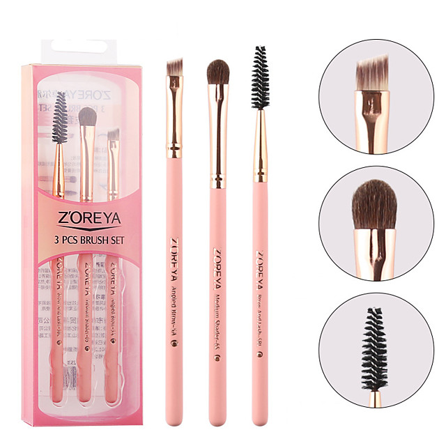 Professional Makeup Brushes 3 Pieces Soft Adorable Artificial Fibre Brush Wooden / Bamboo for Lash Brush Eyebrow Brush Eyeshadow Brush Makeup Brush Set
