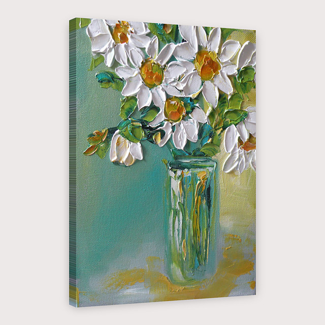 IARTS Hand Painted Little white flowers Oil Painting with Stretched Frame For Home Decoration With Stretched Frame