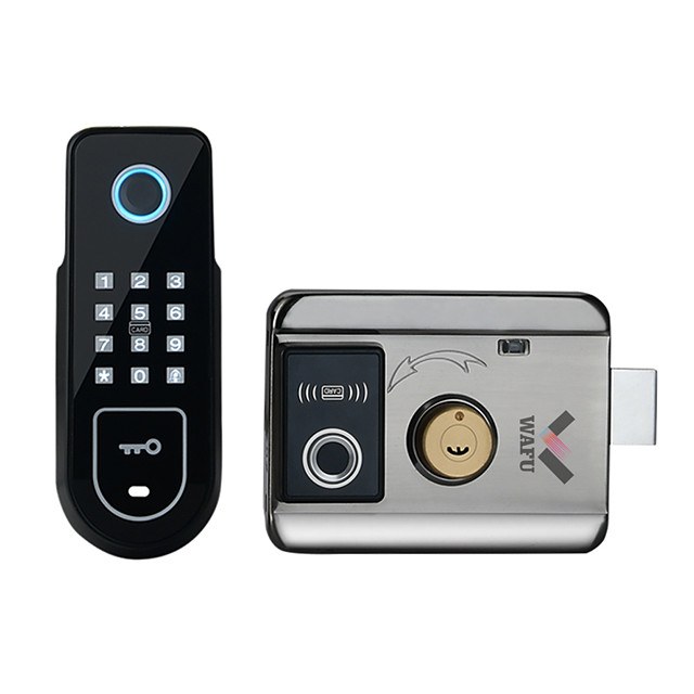 WAFU  Double Fingerprint Electronic Door Lock with Password for Home Courtyard Hotel Smart Remote Control Lock(WF-02)