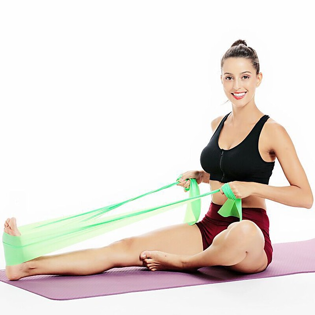 Exercise Resistance Bands 1 pcs Sports EVA Yoga Fitness Pilates Weight Loss Stretching Resistance Training For Men's Women's Shoulder Leg