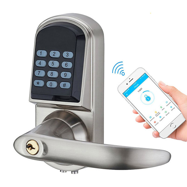 Smart Bluetooth Door Lock Easy Install Access Control Digital Keypad Password RFID Lock Home Apartment Office