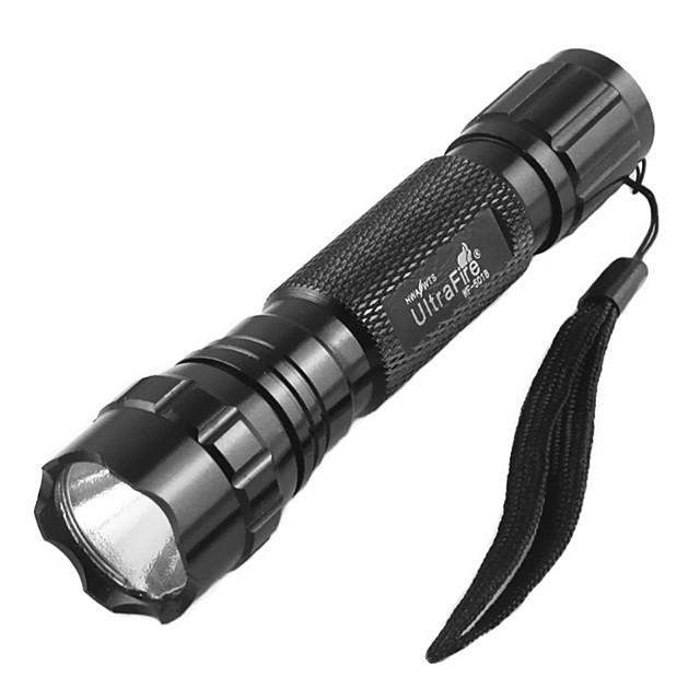 UltraFire 1pc 10 W Flashlight Dimmable Creepy UV (Blacklight) 3.7 V Outdoor Lighting 1 LED Beads Christmas New Year's