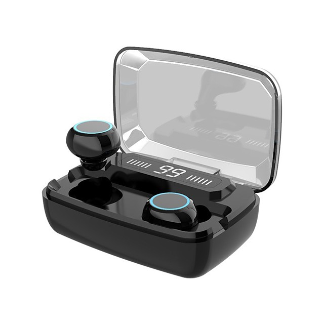 LITBest M11 TWS True Wireless Headphones Bluetooth 5.0 Gaming Earphone IPX7 Waterproof Earbuds 3300mah Power Bank for Smartphones Touch Control Headset for Sports Game