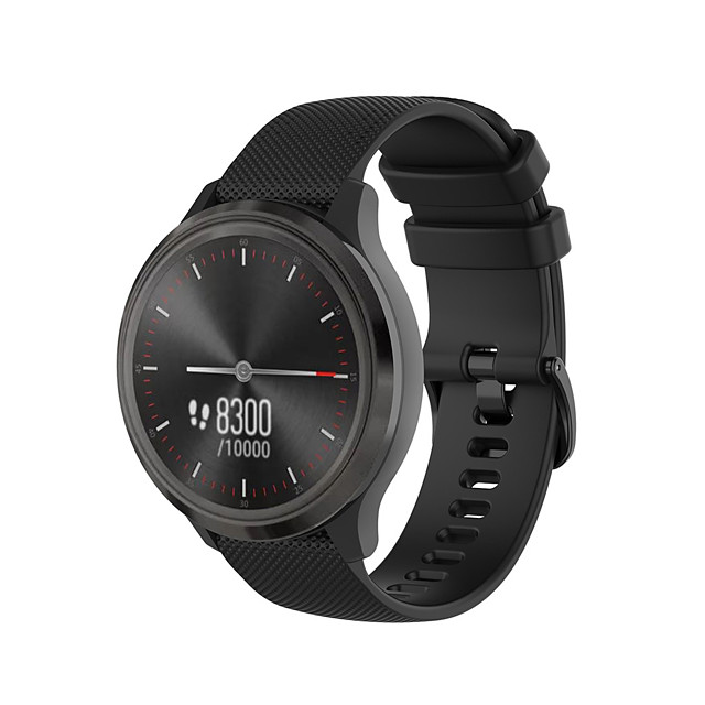 20mm Silicone Wrist Strap for Garmin vivoactive3 Garmin Classic Buckle Watch Band