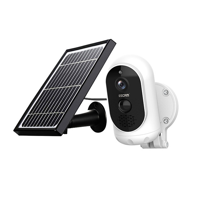 ESCAM G12 1080P Full HD Solar Camera 2 mp Wireless 6000mAH  Battery Outdoor Rechargeable Solar Panel PIR Alarm WiFi Camera Two-Way Audio IP65 Day Night Vision Security Camera