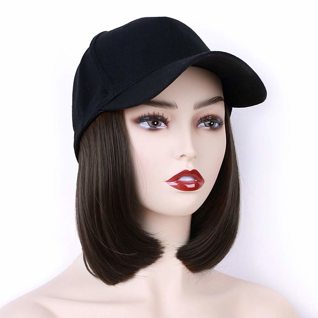 Synthetic Wig Natural Straight Short Bob Wig Short Light Brown Dark Auburn#33 Black Medium Brown Synthetic Hair 10 inch Women's Party New Arrival Fashion Black Dark Brown