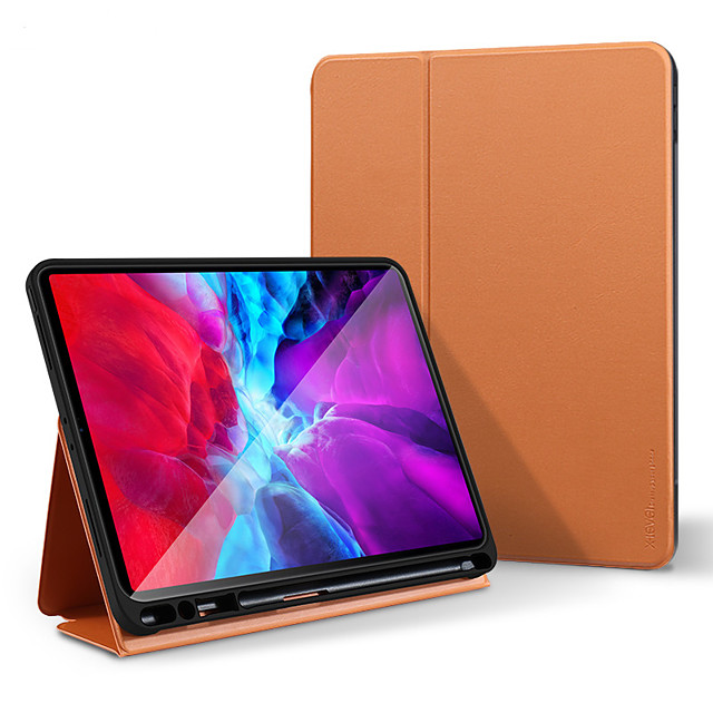 Case For Apple iPad Pro 11''(2018)  iPad Pro 11''(2020)  iPad10.2''(2019)  Ipad air3 10.5' (2019) 360 Rotation  Shockproof  Magnetic Full Body Cases Solid Colored PU Leather  TPU